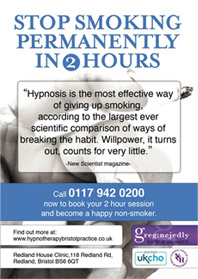 Stop smoking flyer front